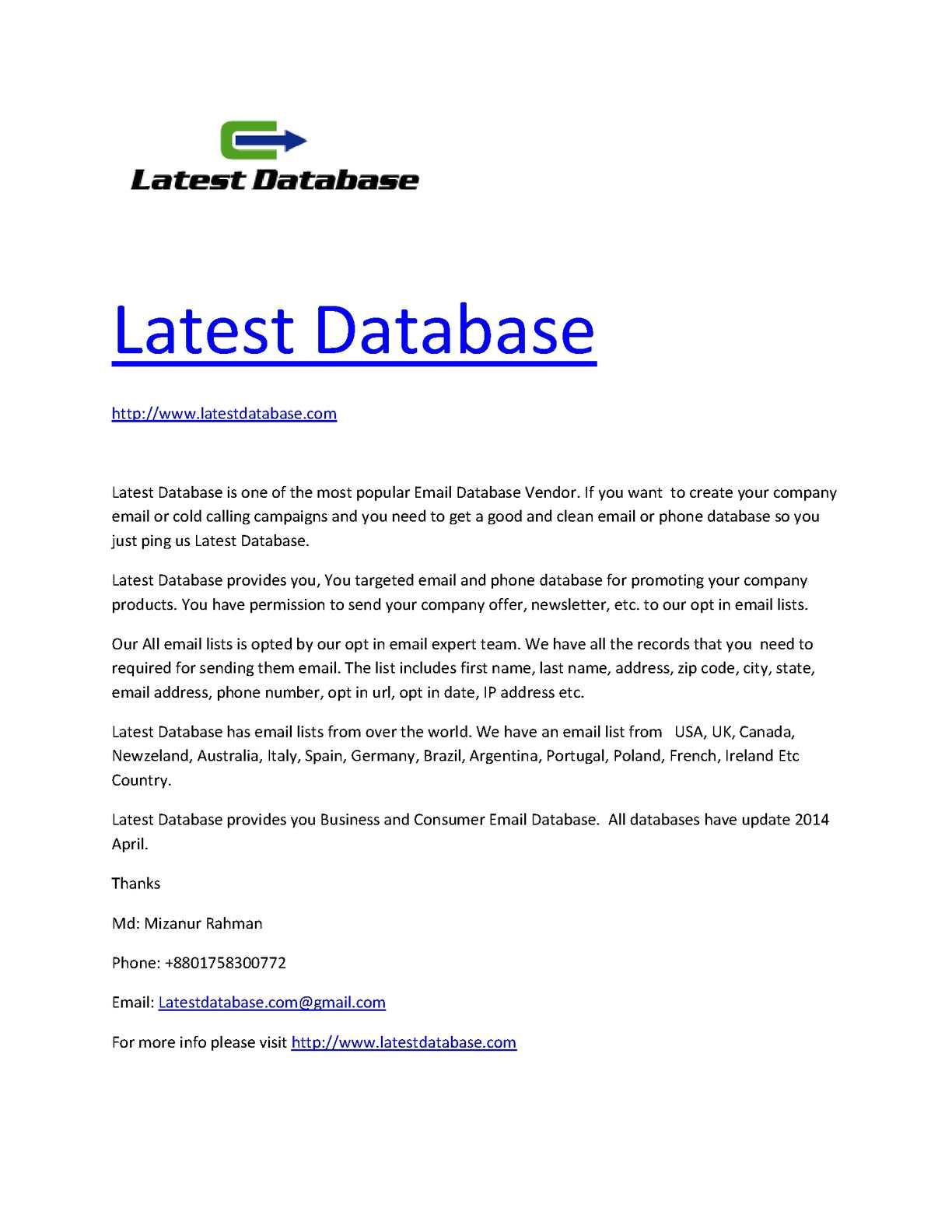 Calaméo - Buy Email Database