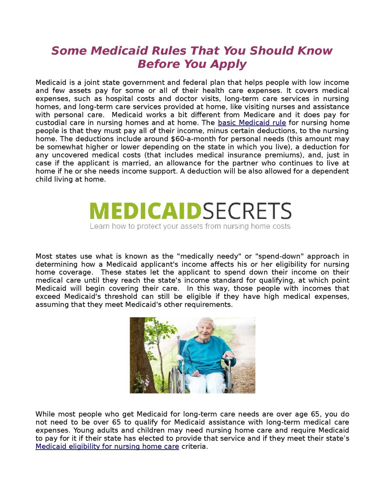 Calaméo - Some Medicaid Rules That You Should Know Before You Apply