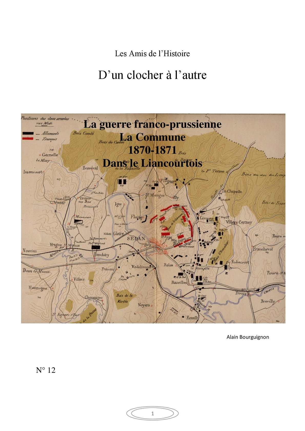 La Guerre franco-prussienne, La commune dans le Liancourtois