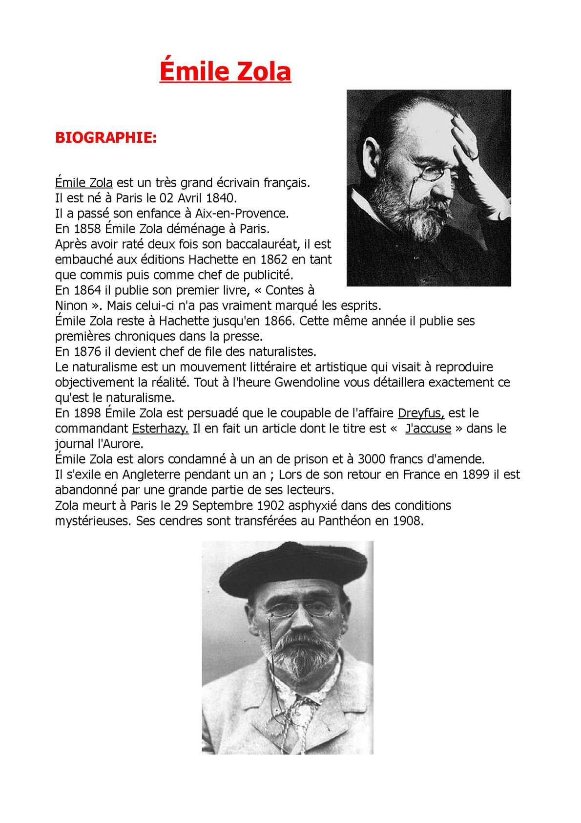 Calameo Emil Zola Exposer