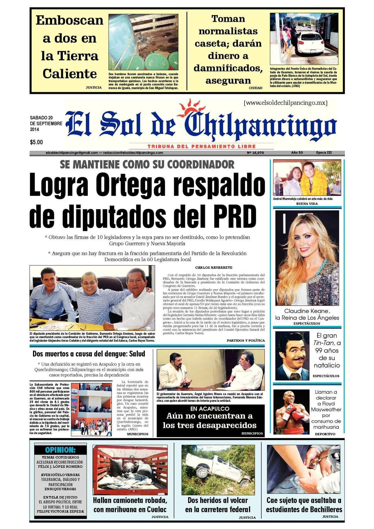 Calaméo - El Sol de Chilpancingo 20 Septiembre 2014 c41c07374ce