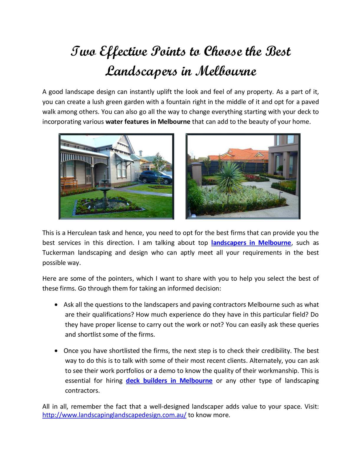 Calameo Tuckerman Landscaping And Design In Melbourne