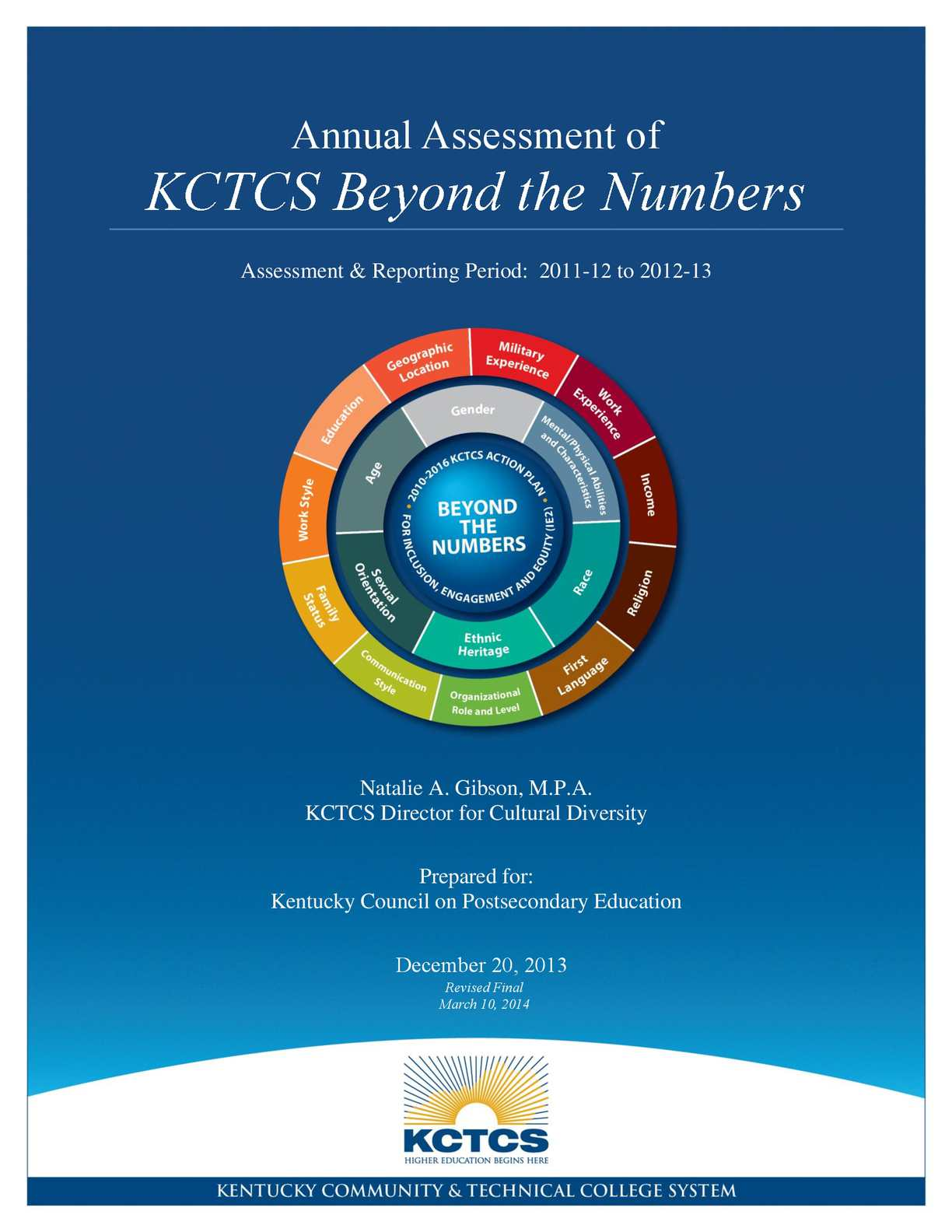 Calam O Annual Assessment Of KCTCS Beyond The Numbers 2014