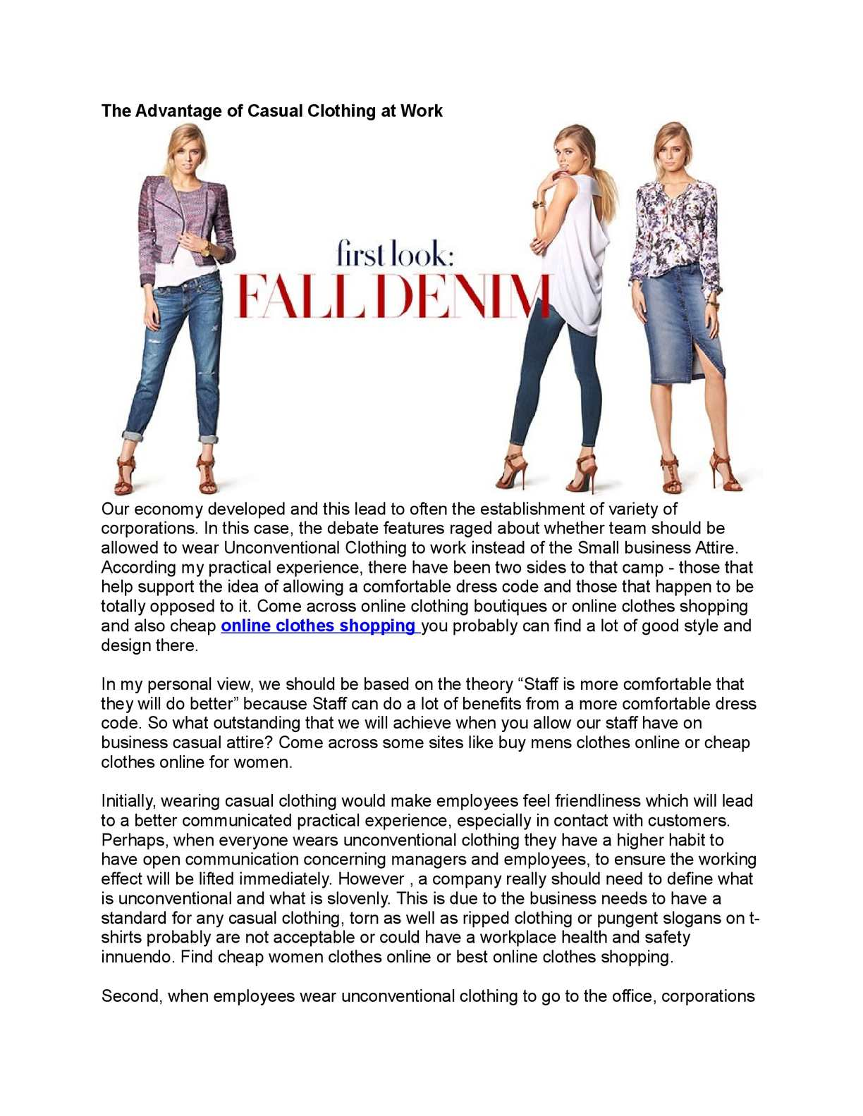Calameo The Advantages Of Casual Clothing At Work