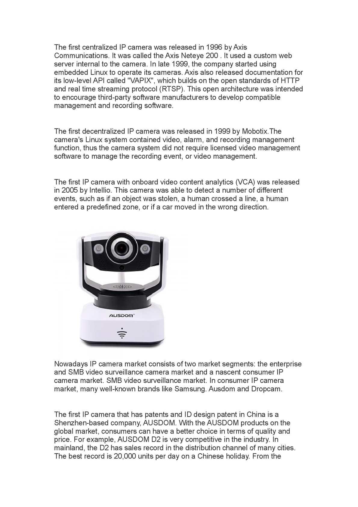 Calaméo - The History of IP Camera