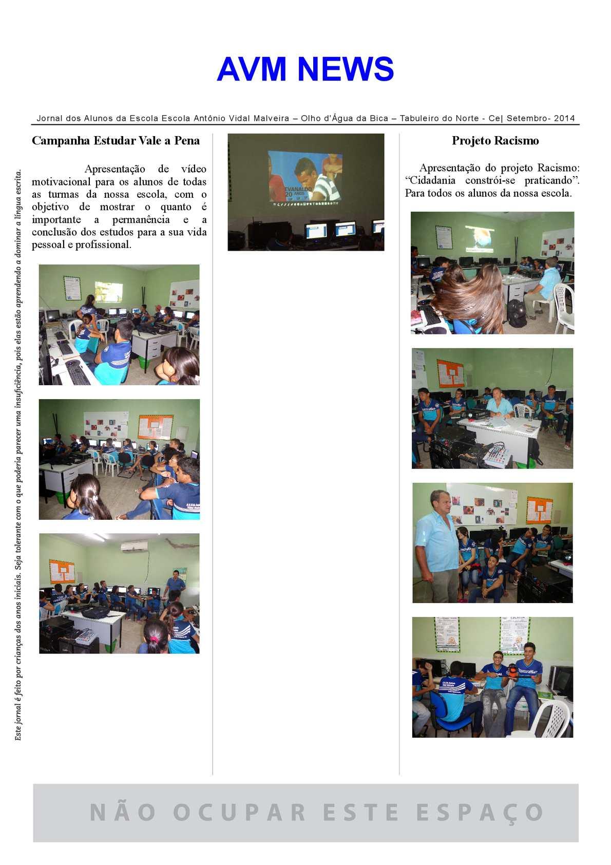 Calaméo Jornal Escolar Setembro De 2014