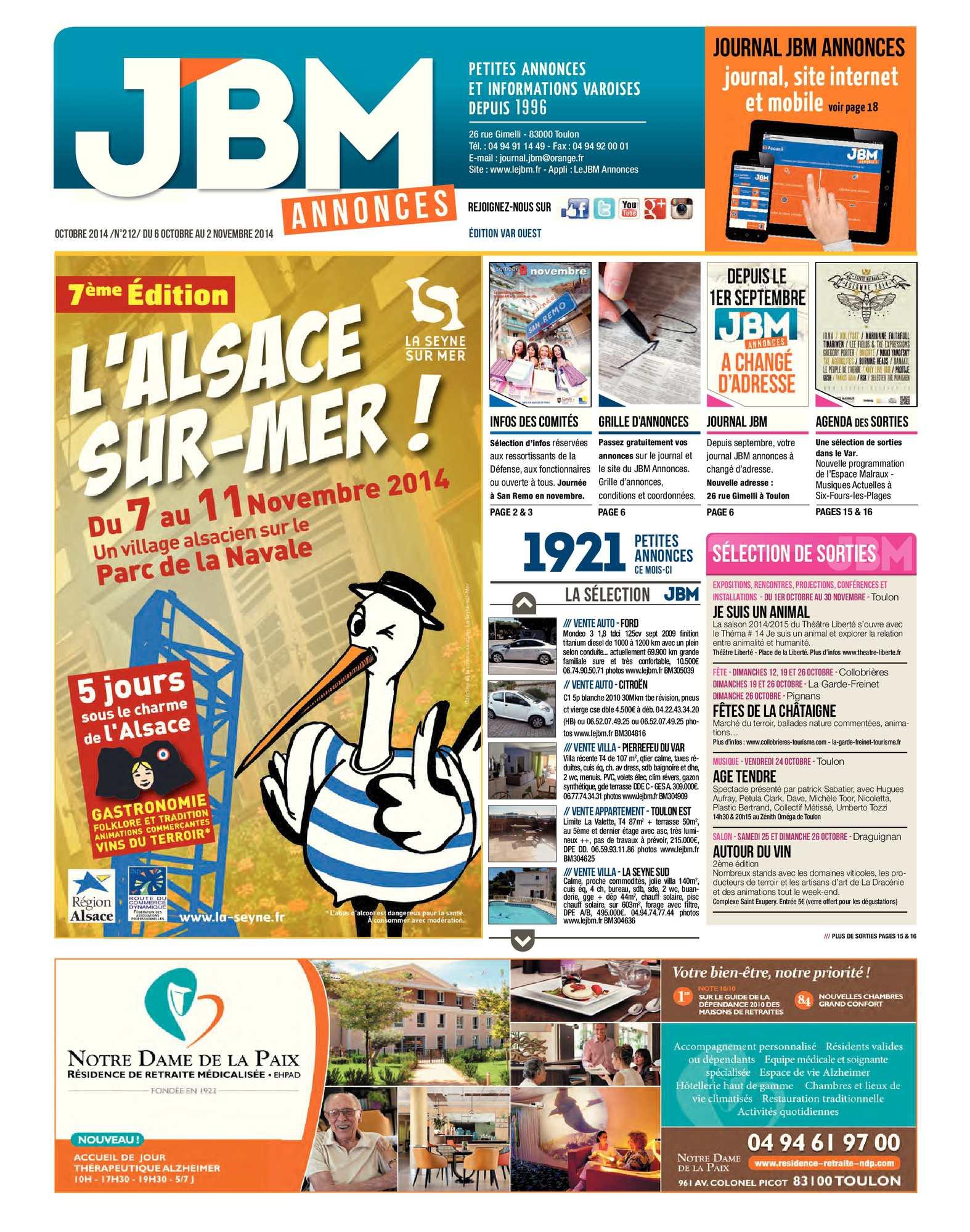 Calaméo Journal Annonces Octobre N°212 Jbm 2014 fgYb7y6