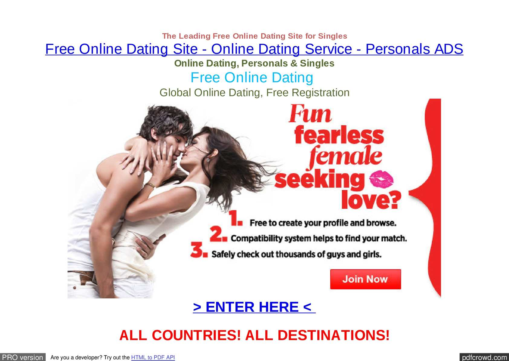Genuine free dating sites