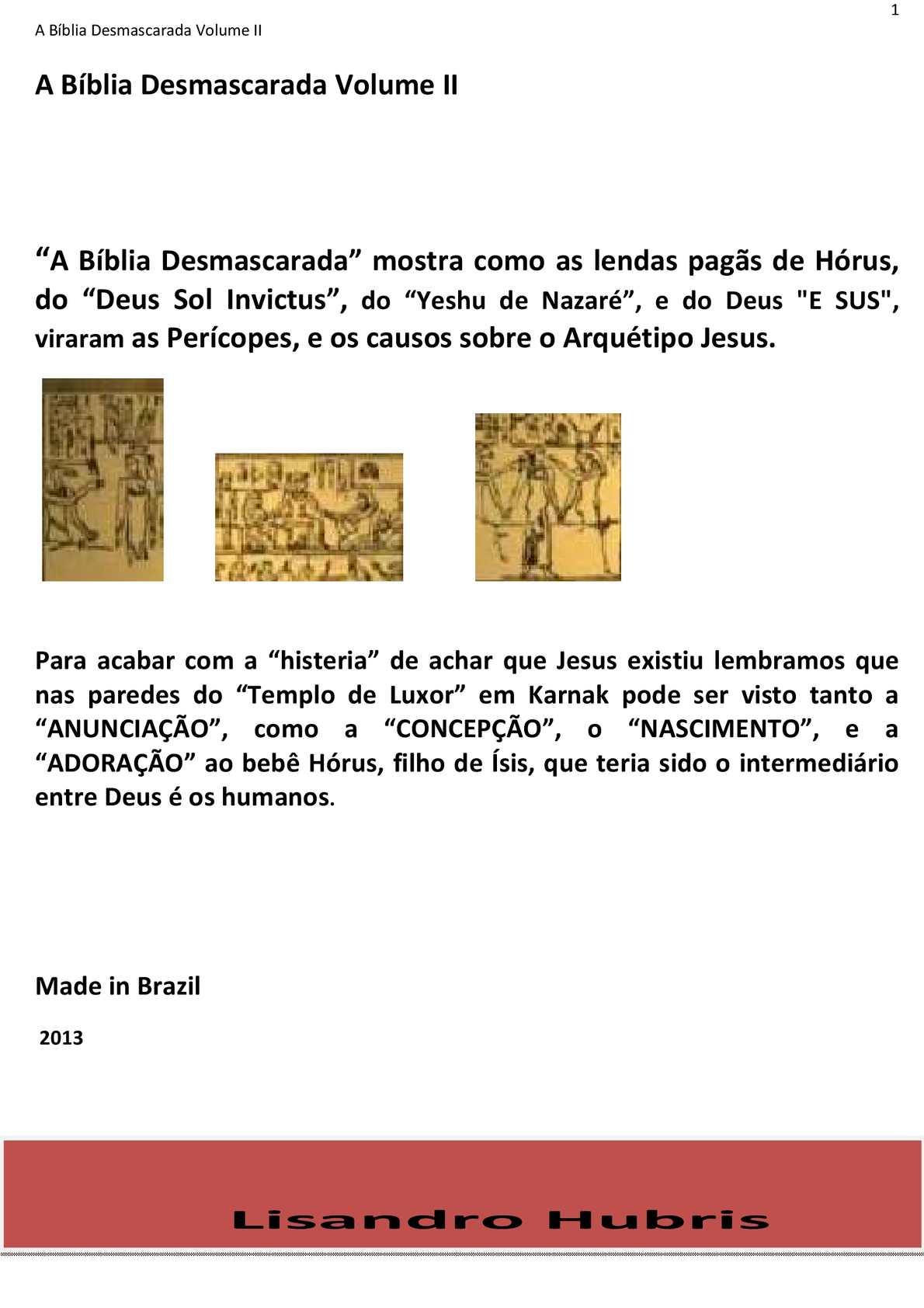 A Bíblia Desmascarada Vol. II