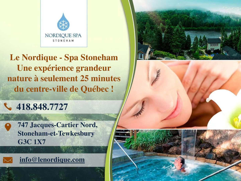 Calameo Spa Stoneham Bains Nordiques Saunas Et Massages A Quebec
