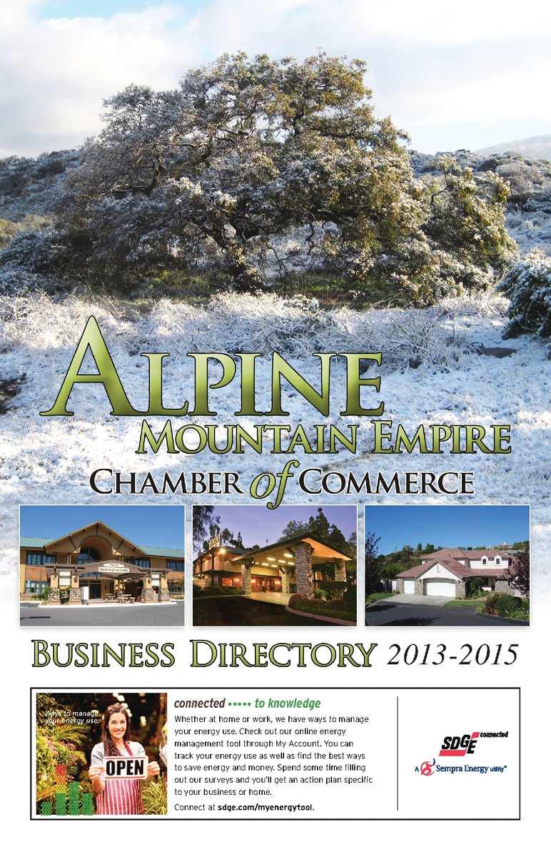 Calaméo Alpine Mountain Empire Chamber Of Commerce Digital