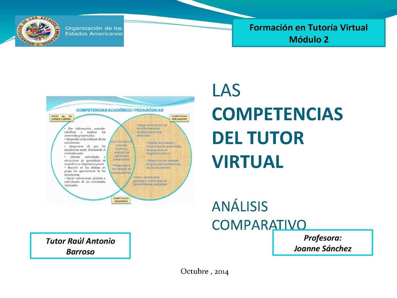 Calaméo Competencias Del Tutor Virtual Análisis Comparativo