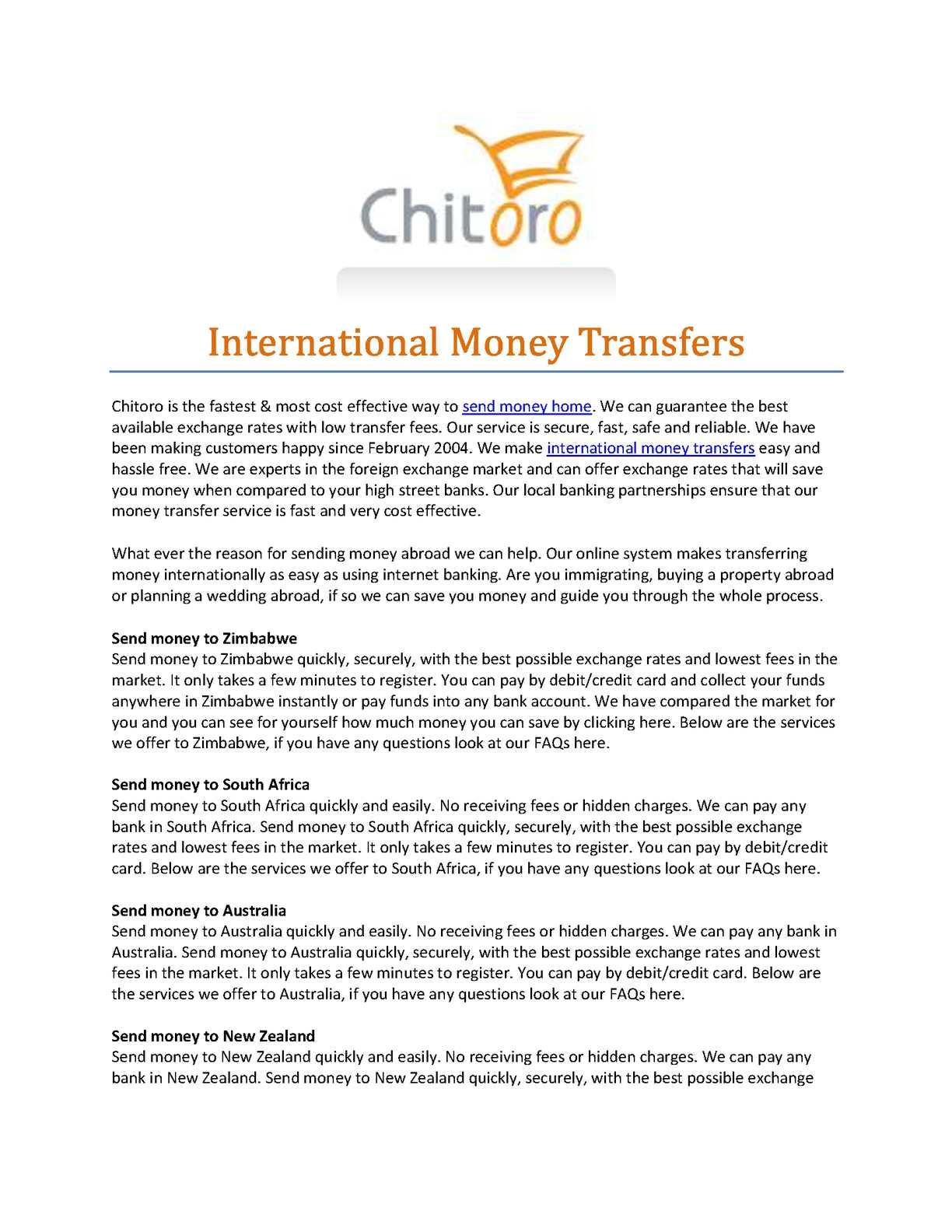 Calaméo - International Money Transfers