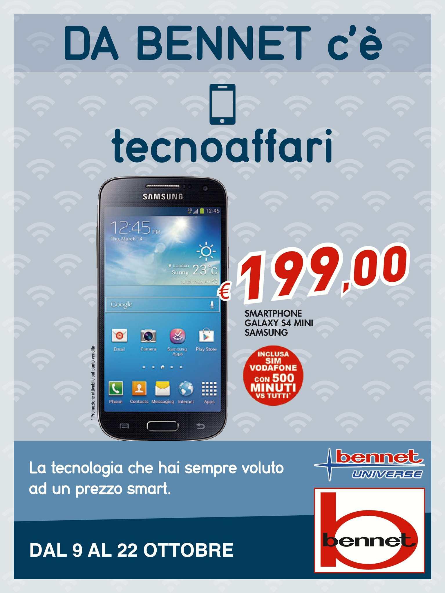 best website d02b9 ac2b5 Calaméo - Volantino Bennet Tecno Dal 9 Al 22 Ottobre