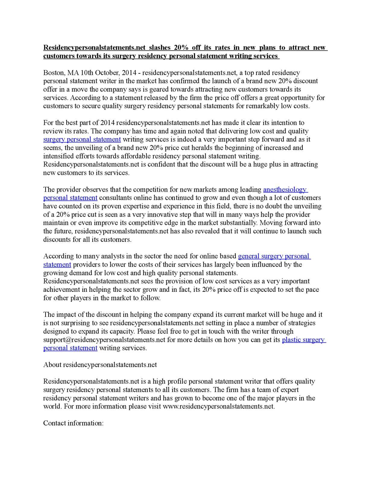 Calaméo - Residencypersonalstatements net slashes 20% off