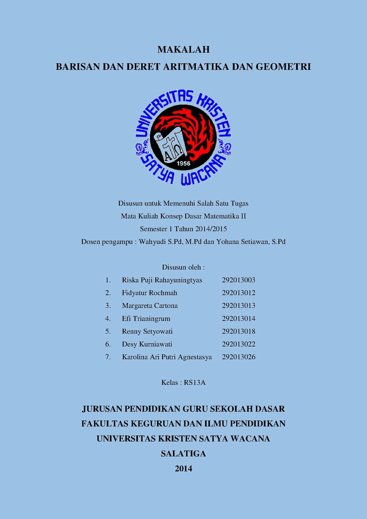Calameo Barisan Dan Deret Aritmatika Dan Geometri