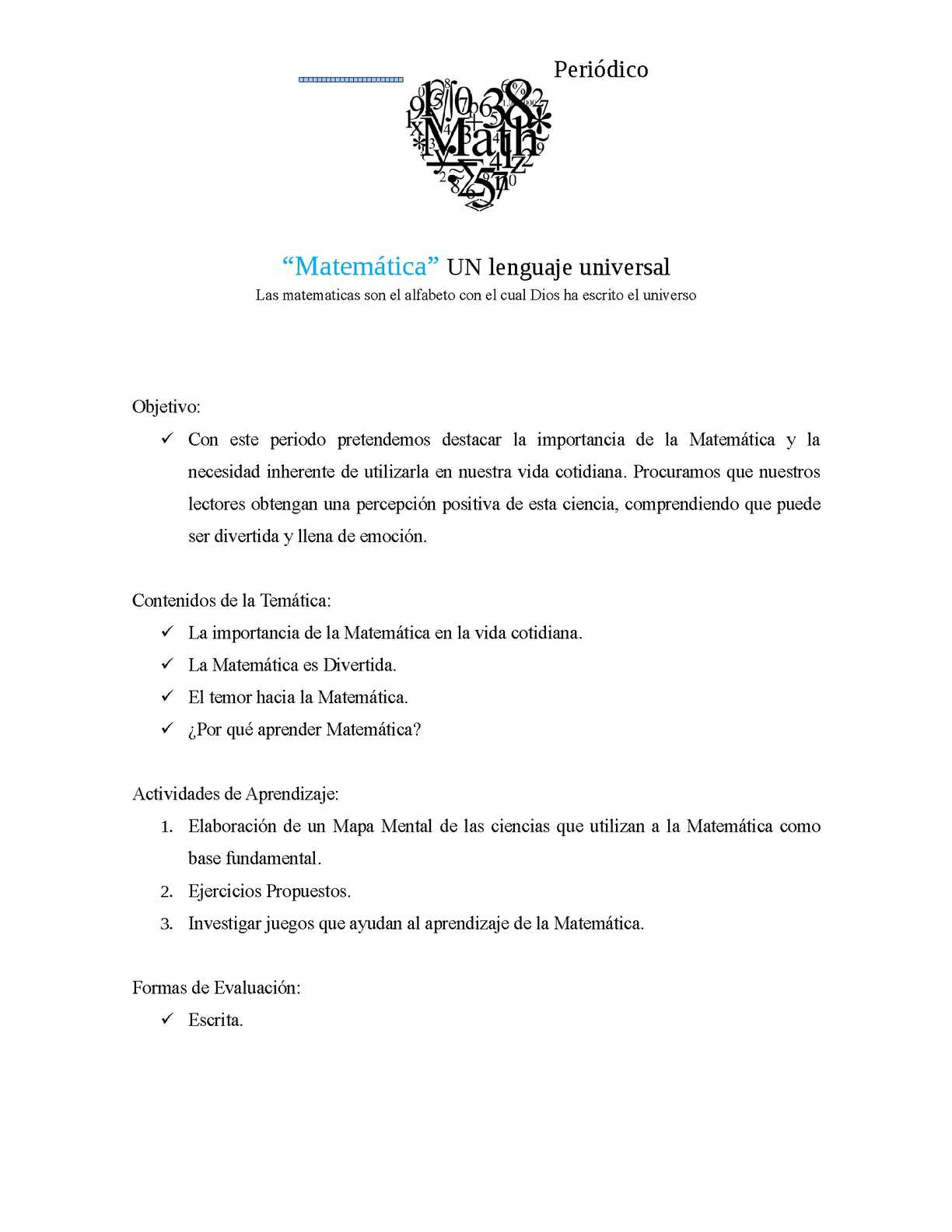 Calameo Matematica Un Lenguaje Universal Periodico