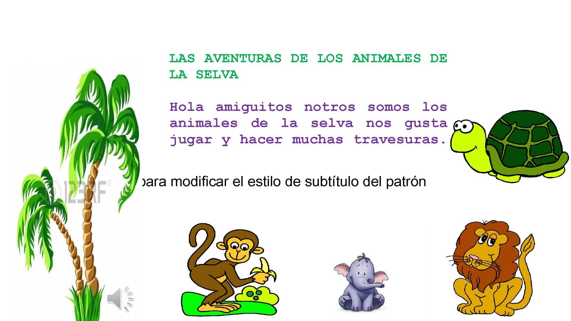 Calaméo Cuento Infantil Las Aventuras De Los Animales De La Selva