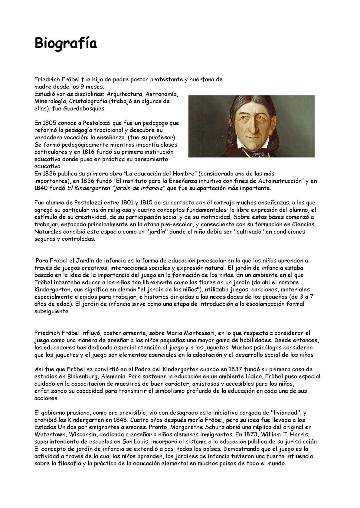 Calaméo Friedich Fröbel 1 Odt