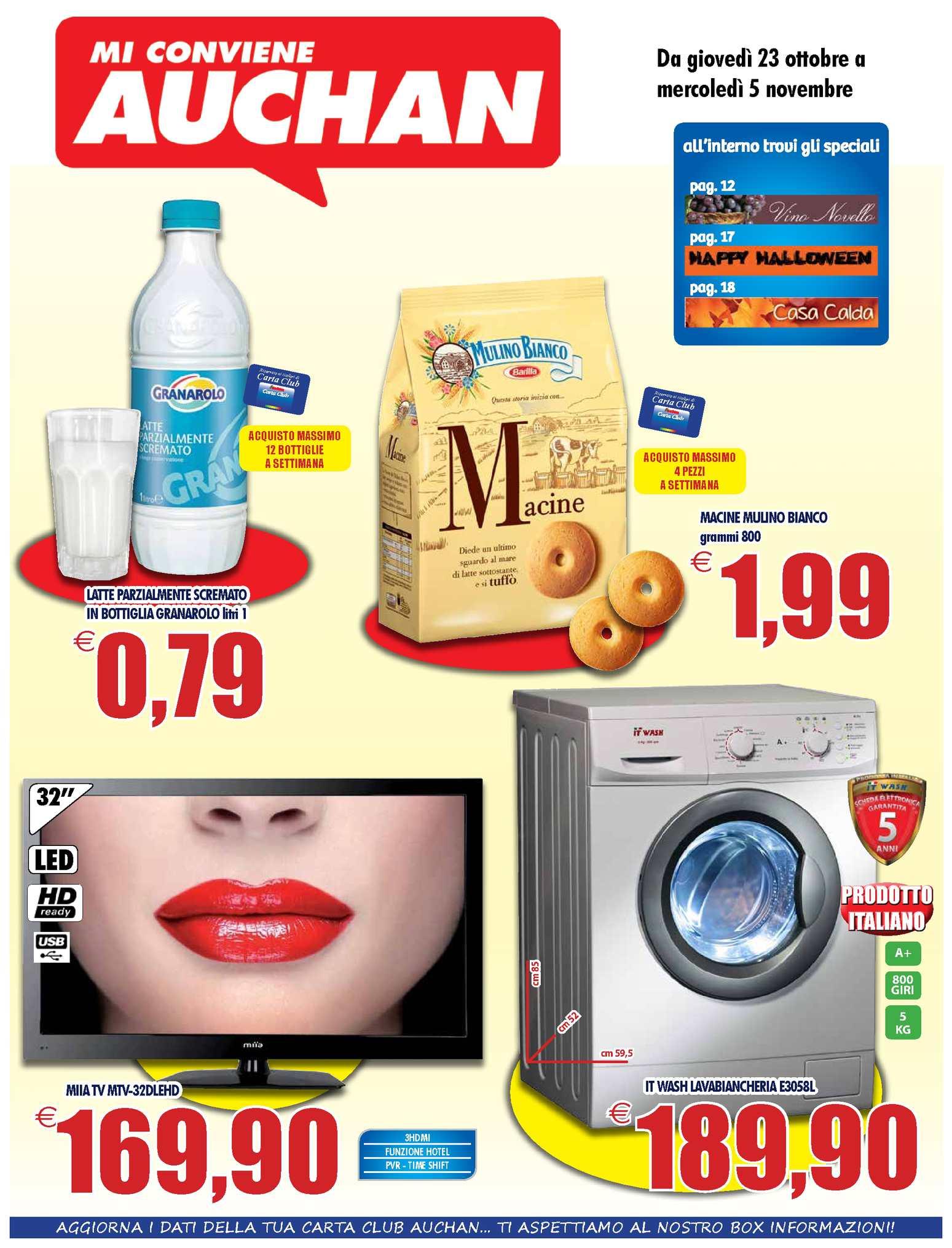 Auchan Lenzuola Matrimoniali.Calameo Volantino Auchan Calabria Dal 23 Ottobre Al 5 Novembre