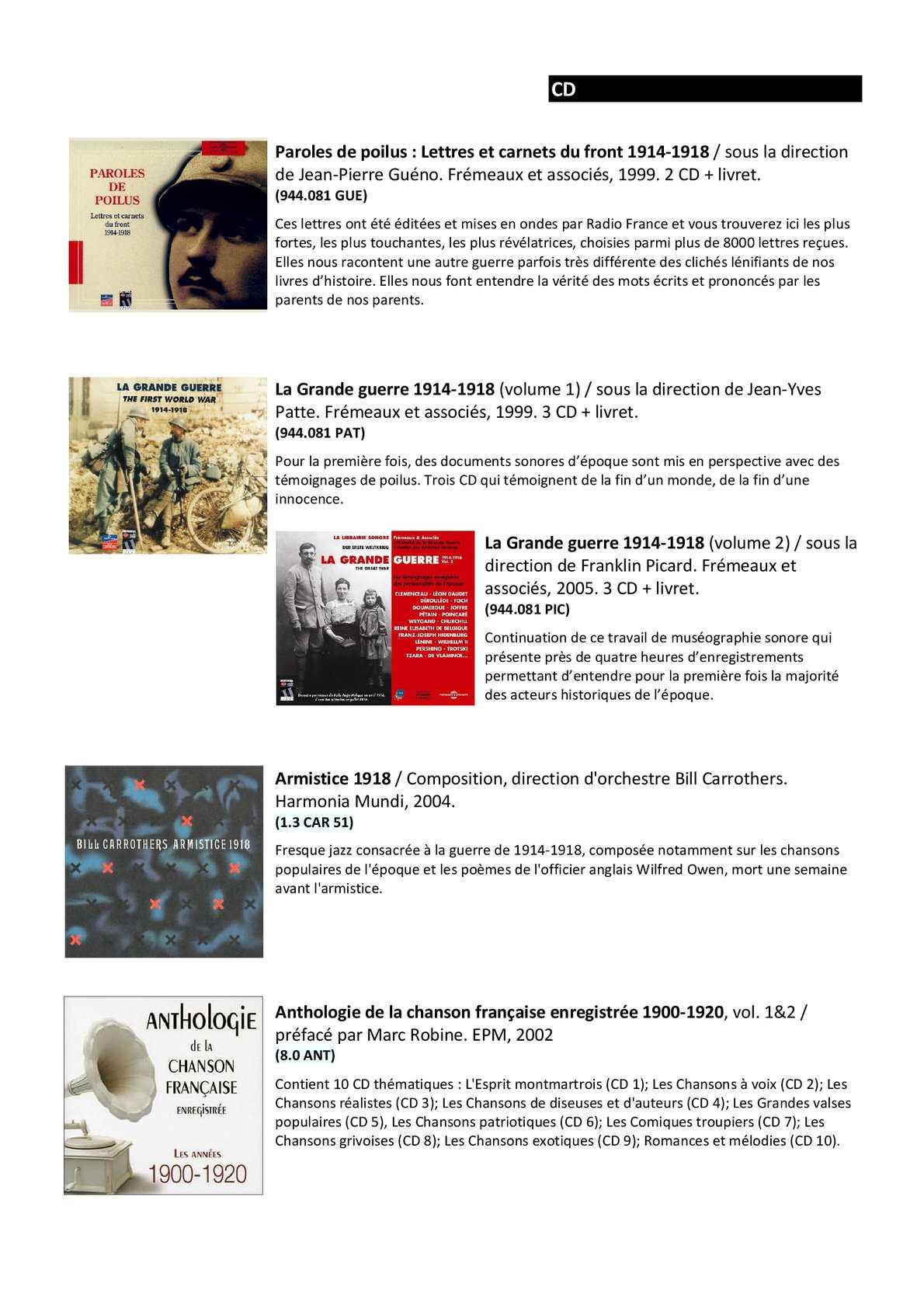 Bibliographie La Grande Guerre 14 18 Calameo Downloader