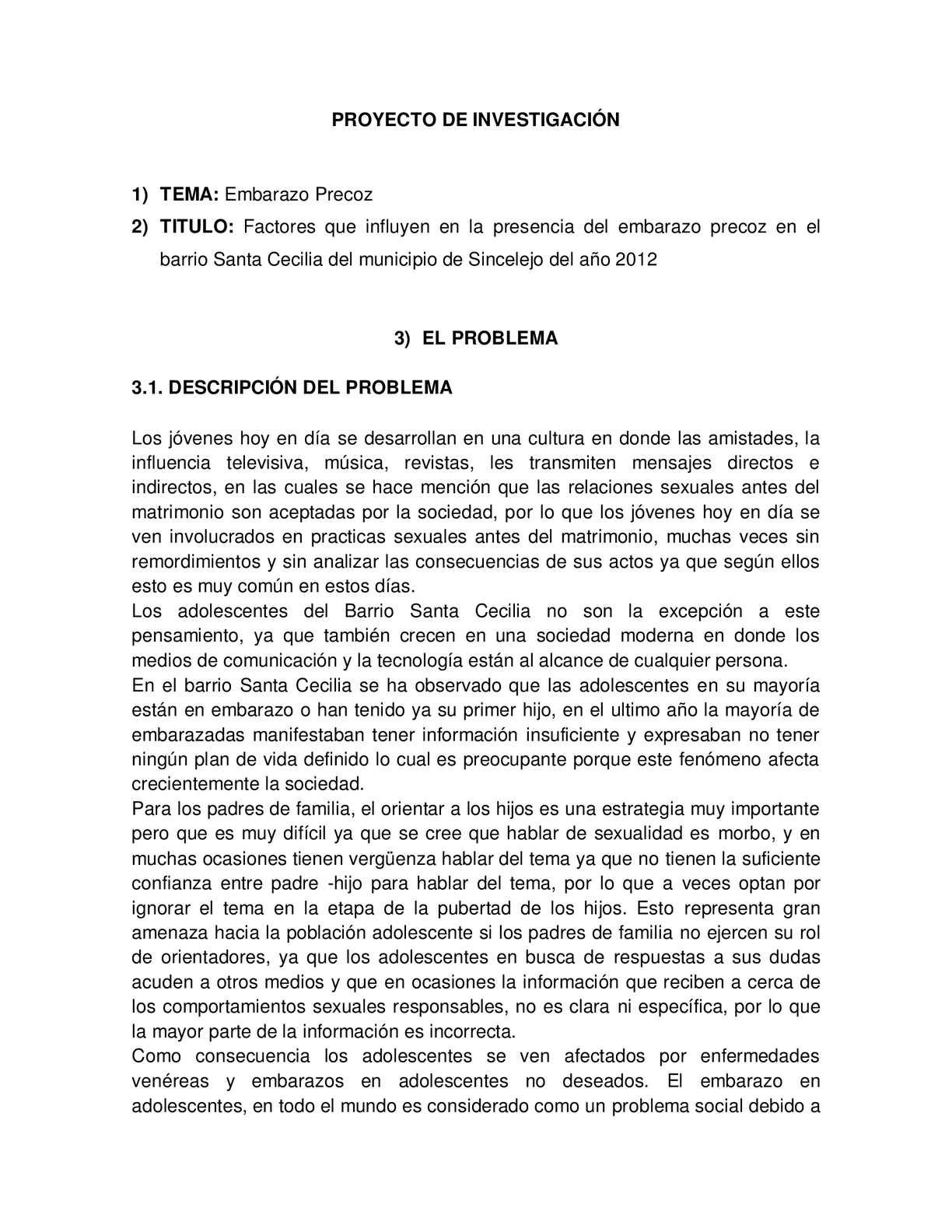 problema+de+investigacion+del+embarazo+precoz