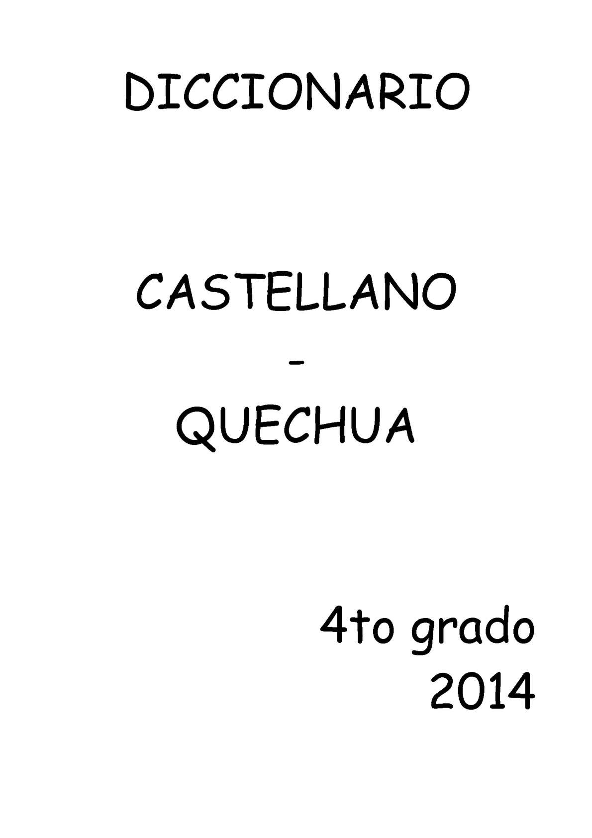 Quechua Calaméo Diccionario Diccionario Castellano Calaméo Diccionario Castellano Calaméo Quechua j3RLAq54