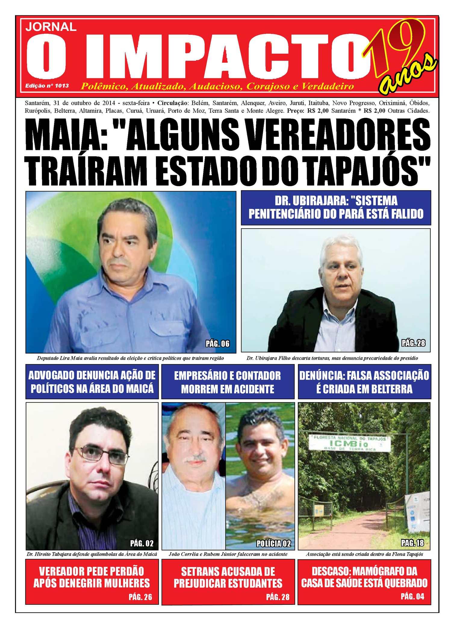 Calaméo - Jornal O Impacto Ed. 1013 3ac5391e52229