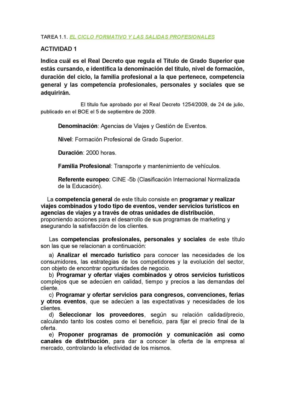 Calaméo El Ciclo Formativo Y Las Salidas Profesionales