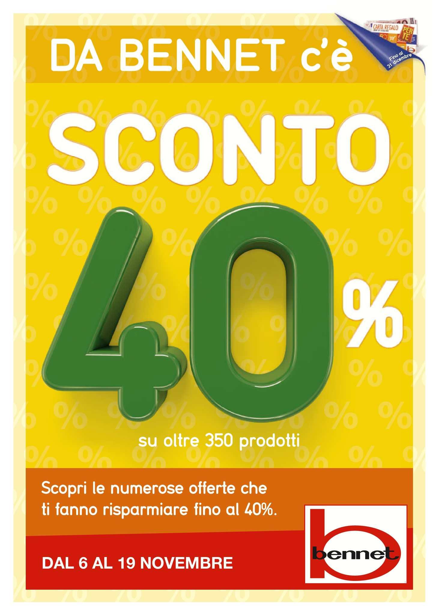 buy online bdb3e a0123 Calaméo - Volantino Bennet Spesa Dal 6 Al 19 Novembre