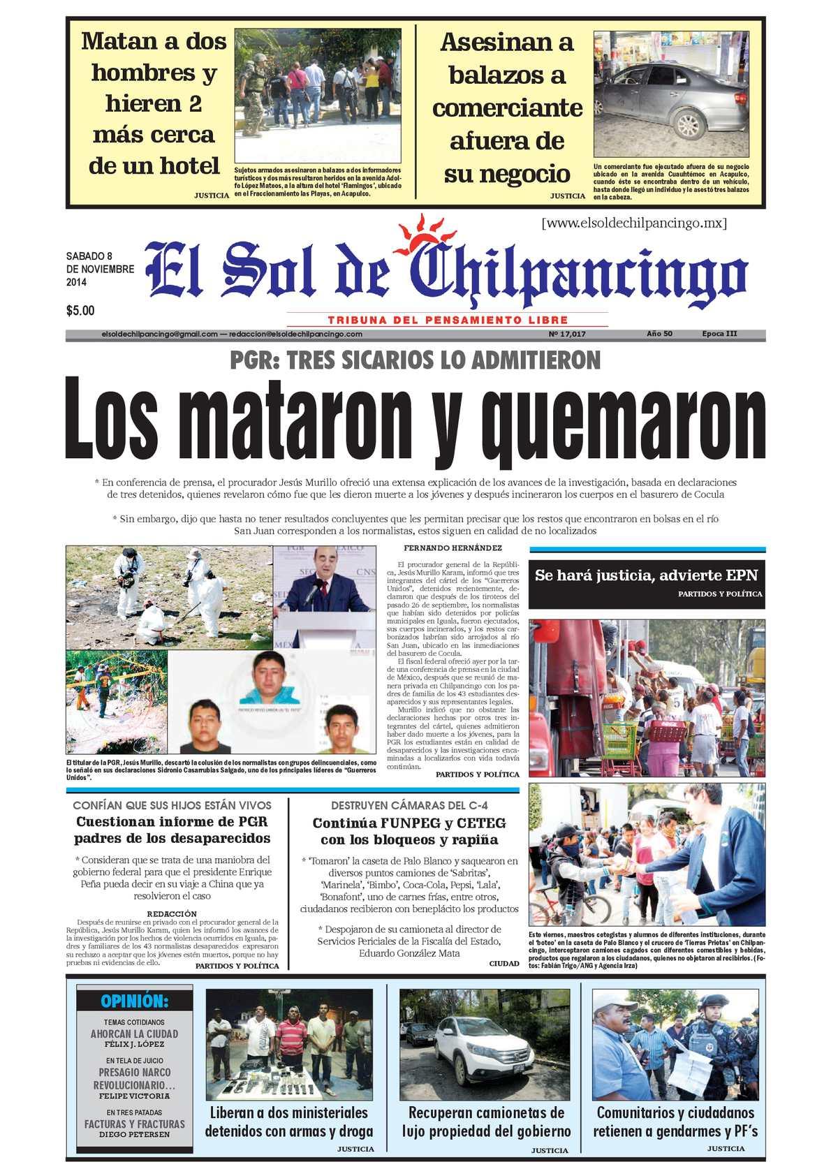 cc00a0da3 Calaméo - El Sol de Chilpancingo 8 Octubre 2014