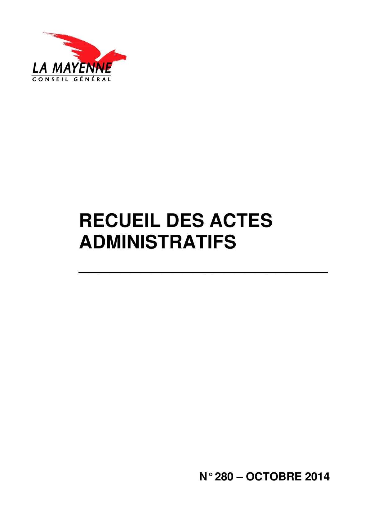 Calaméo - Recueil des actes administratifs - octobre 2014 e9210382f603