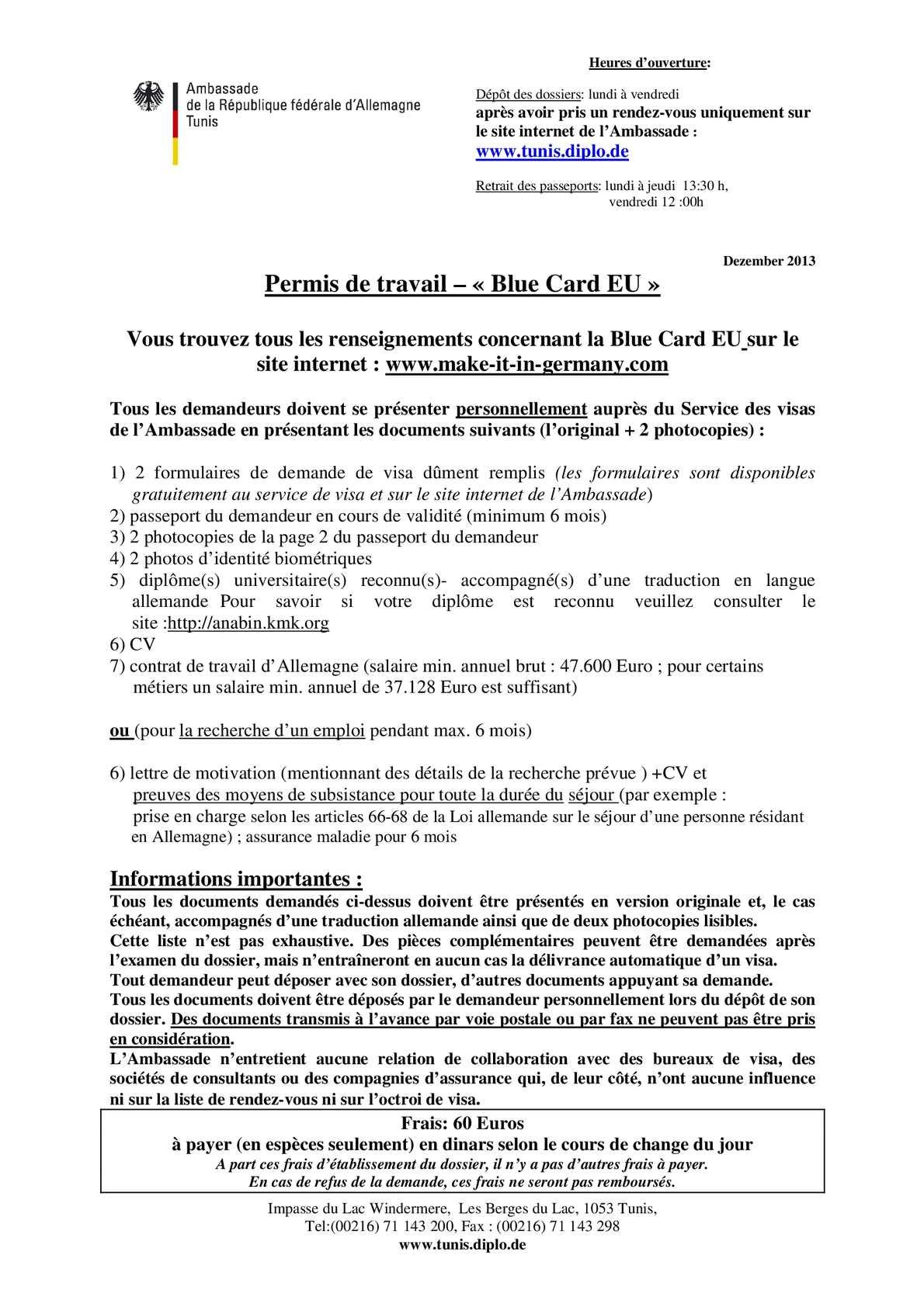 Calaméo Blue Card Frz2014