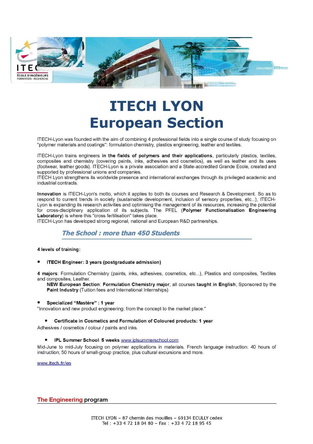 Calaméo - Itech European School Of Formulation Chemistry