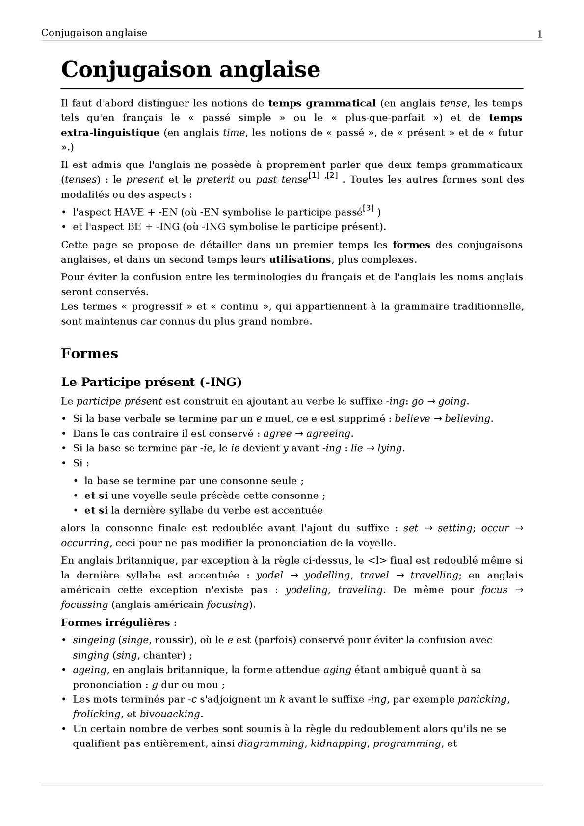 Calameo Conjugaison Anglaise