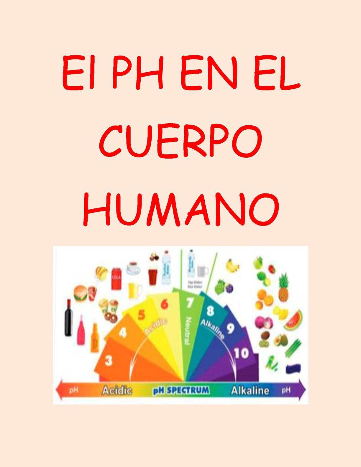 definicion de ph del cuerpo humano
