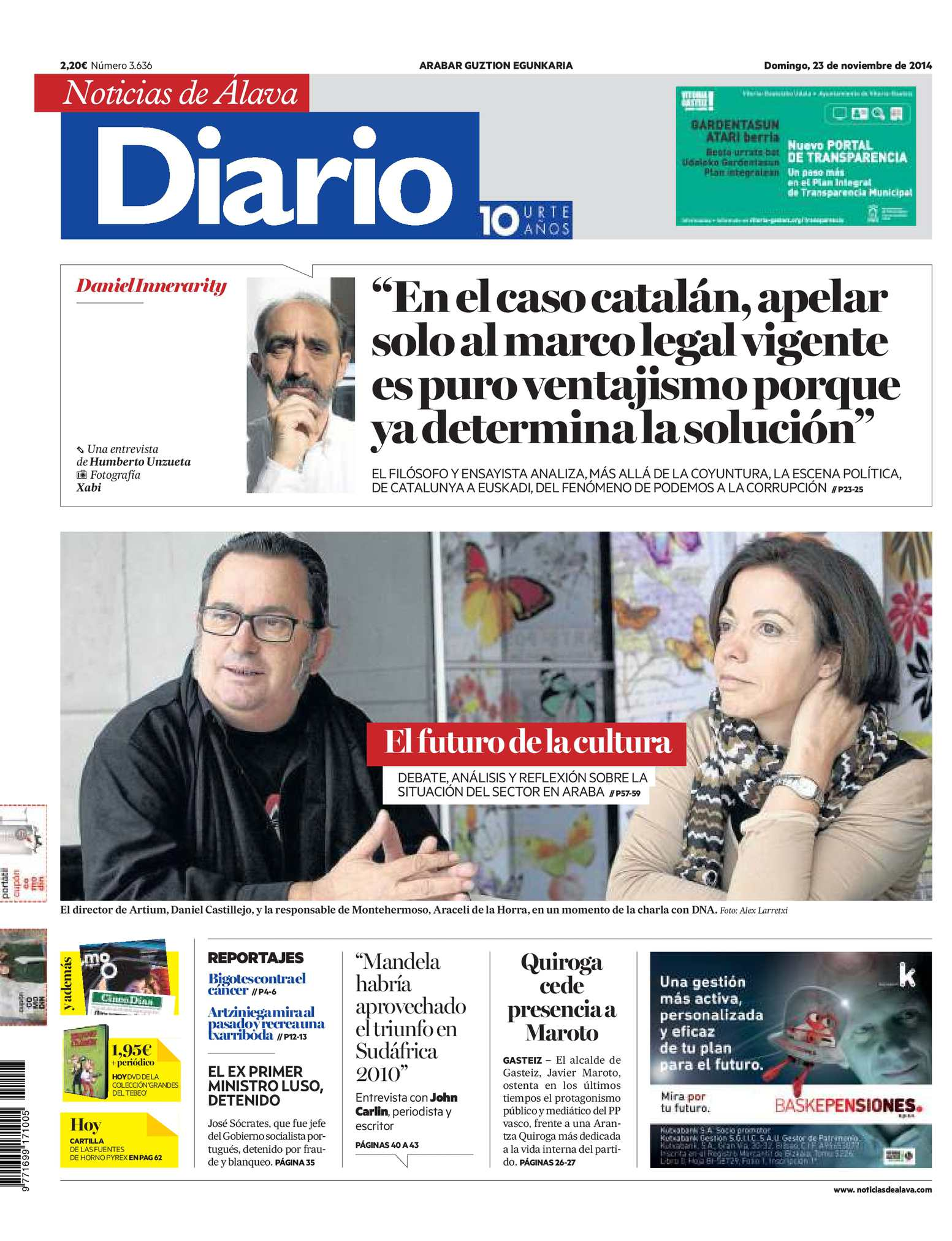 2dc3b2df09 Calaméo - Diario de Noticias de Álava 20141123