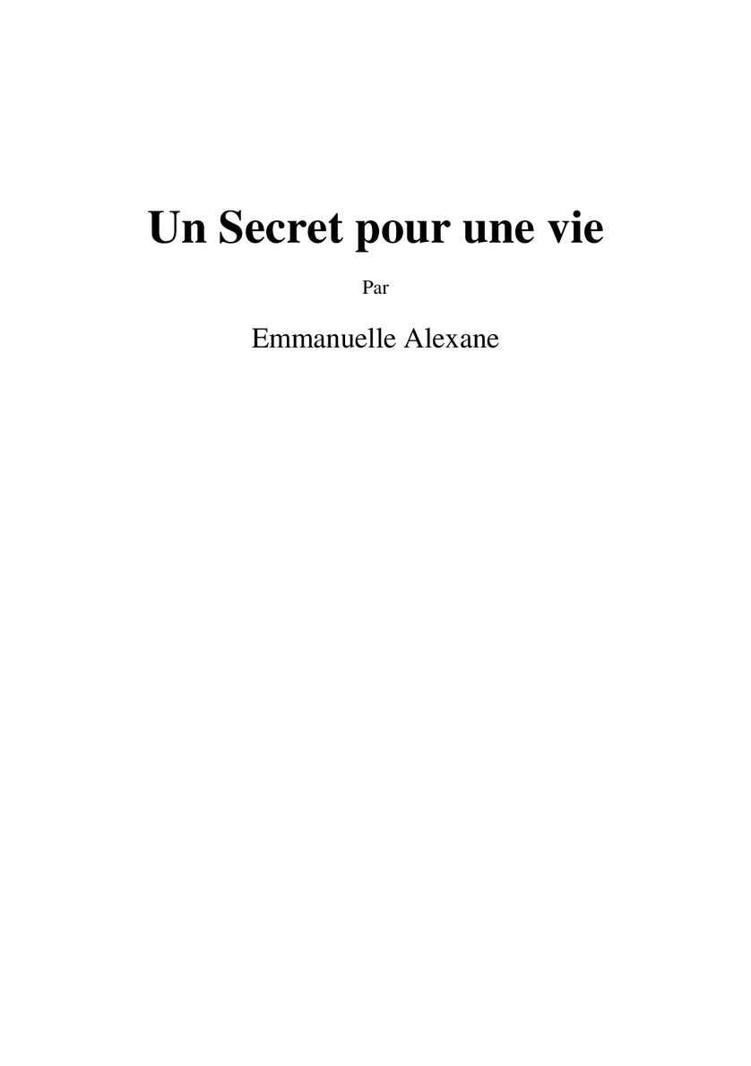 Calaméo - Un secret pour une vie b91417aedef