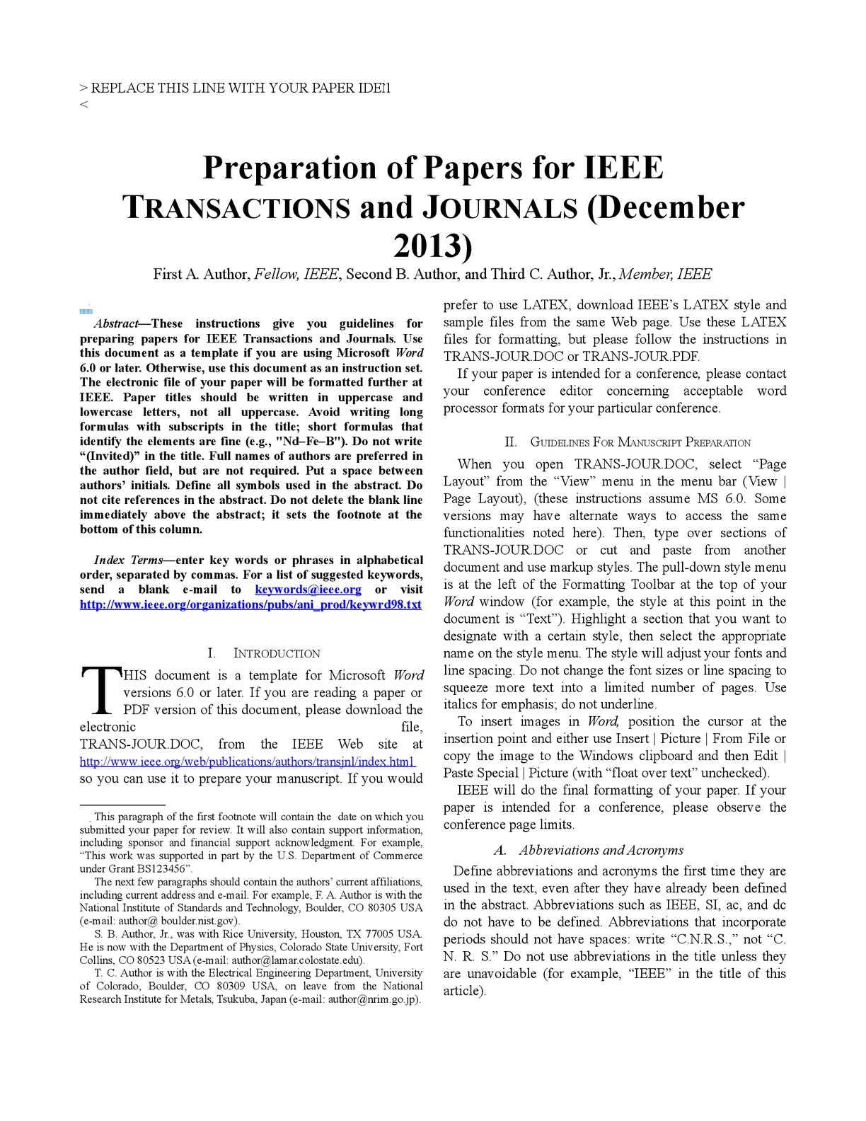 Calaméo - para leer Regarding Ieee Journal Template Word
