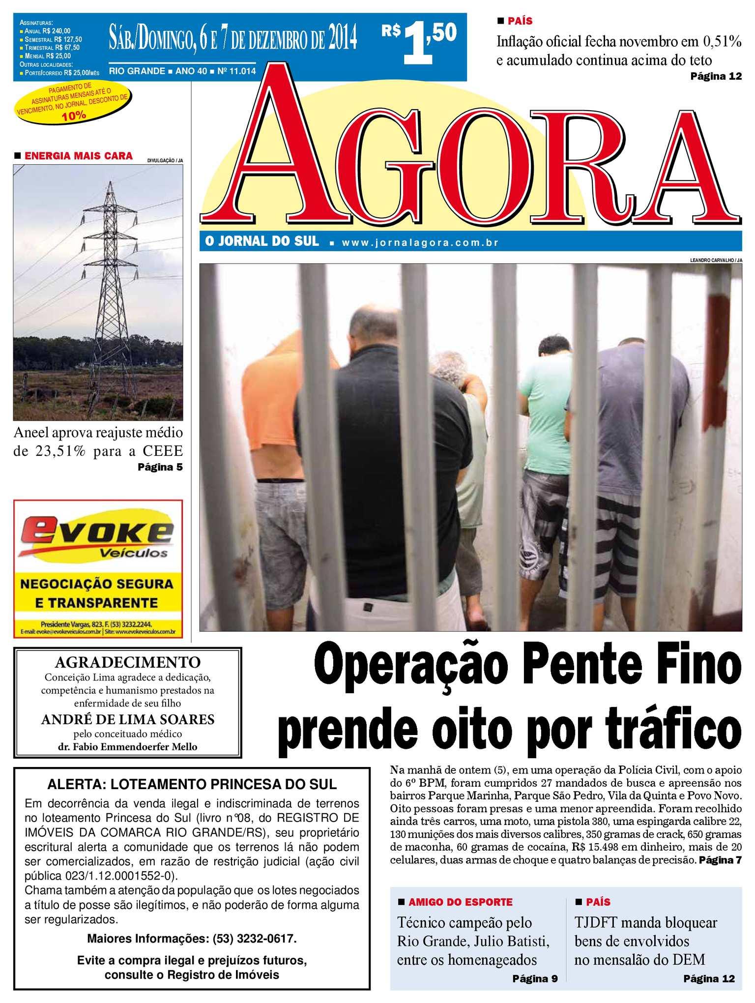 Calaméo - Jornal Agora - Edição 11014 - 6 e 7 de dezembro de 2014 018adcb3342e1