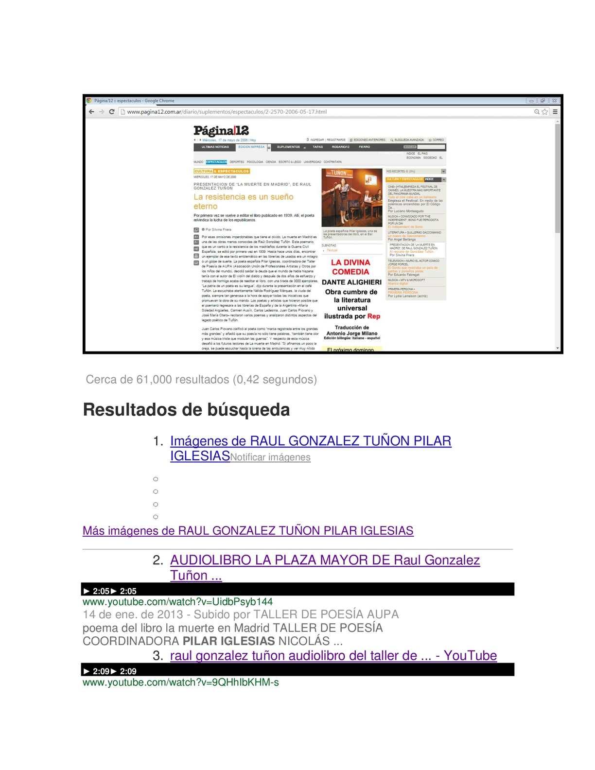 Calaméo En Google Con Raul Gonzalez Tuñon Los Del Taller