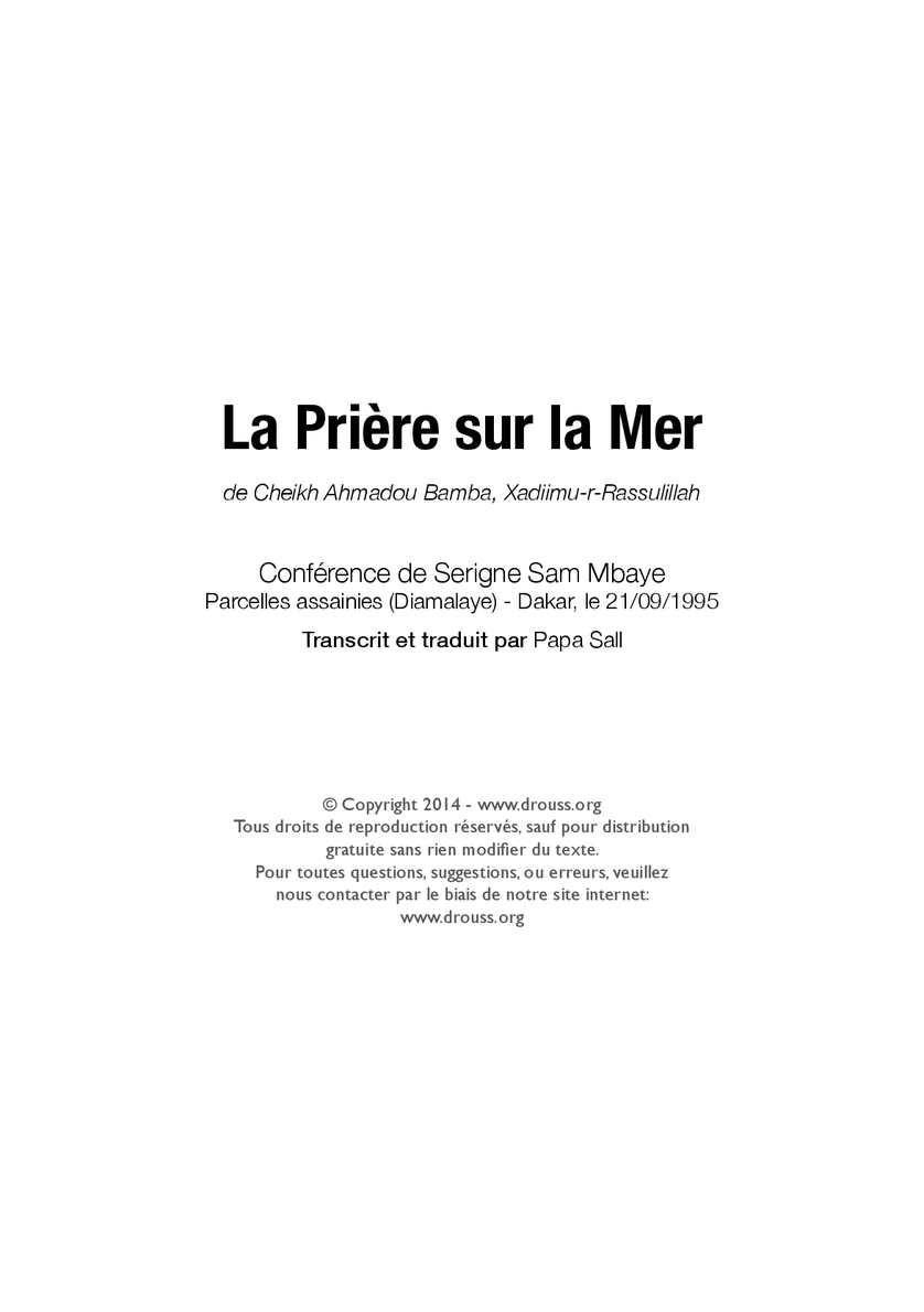 LES SERIGNE TÉLÉCHARGER CONFERENCES SAM GRATUIT DE MBAYE
