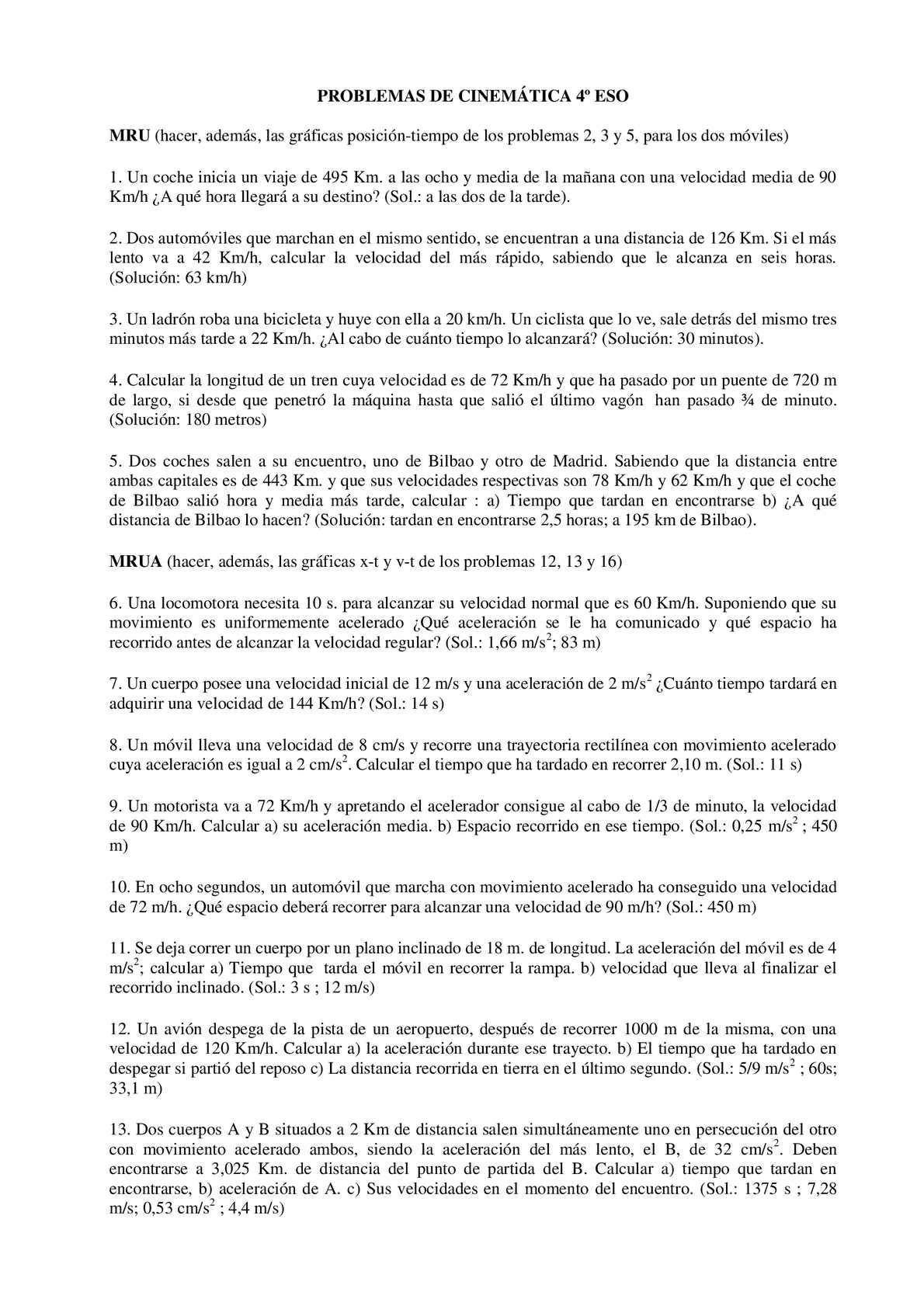 Ejercicios Cinematica 4 Eso - CALAMEO Downloader