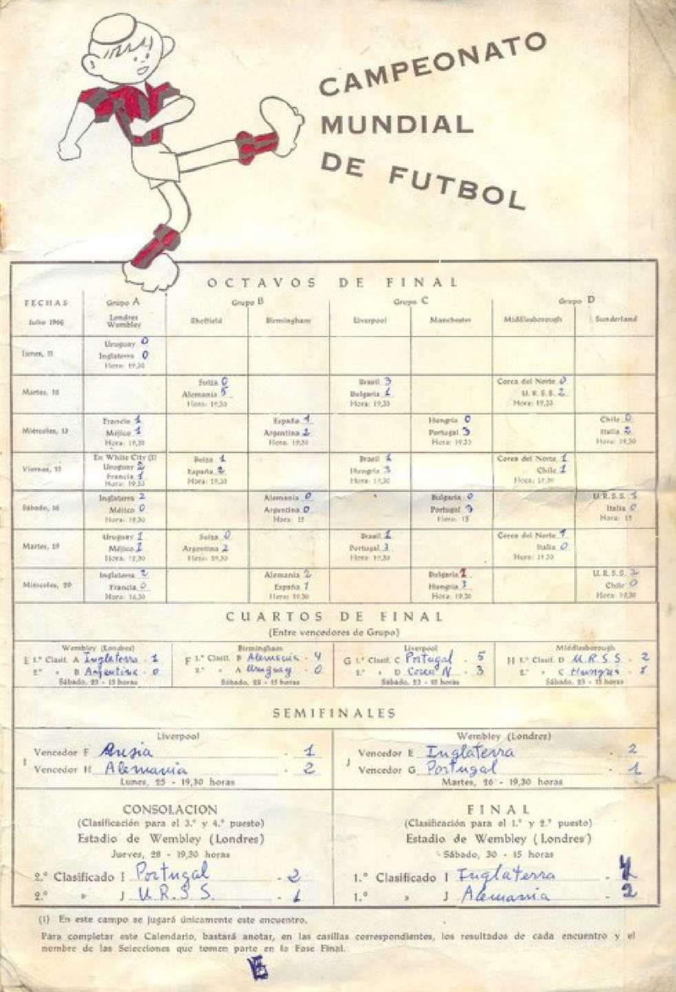 Calendario 1930.Album Cromos Mundial 1966 Calameo Downloader