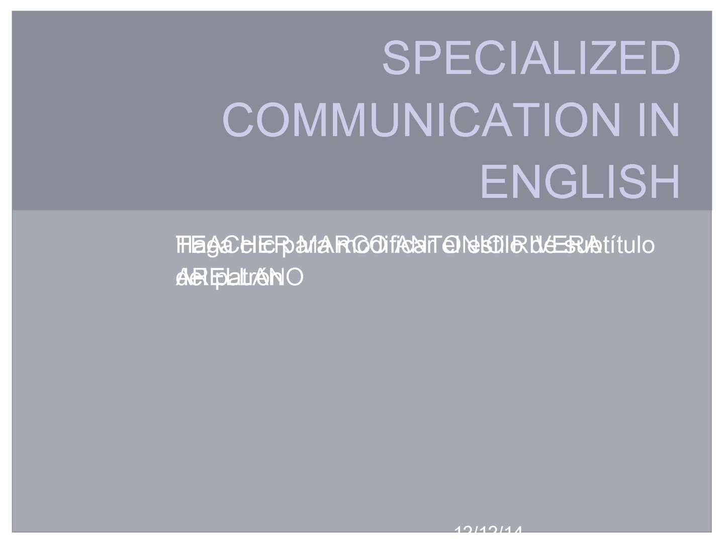 Calameo Specialized Communication In English 3