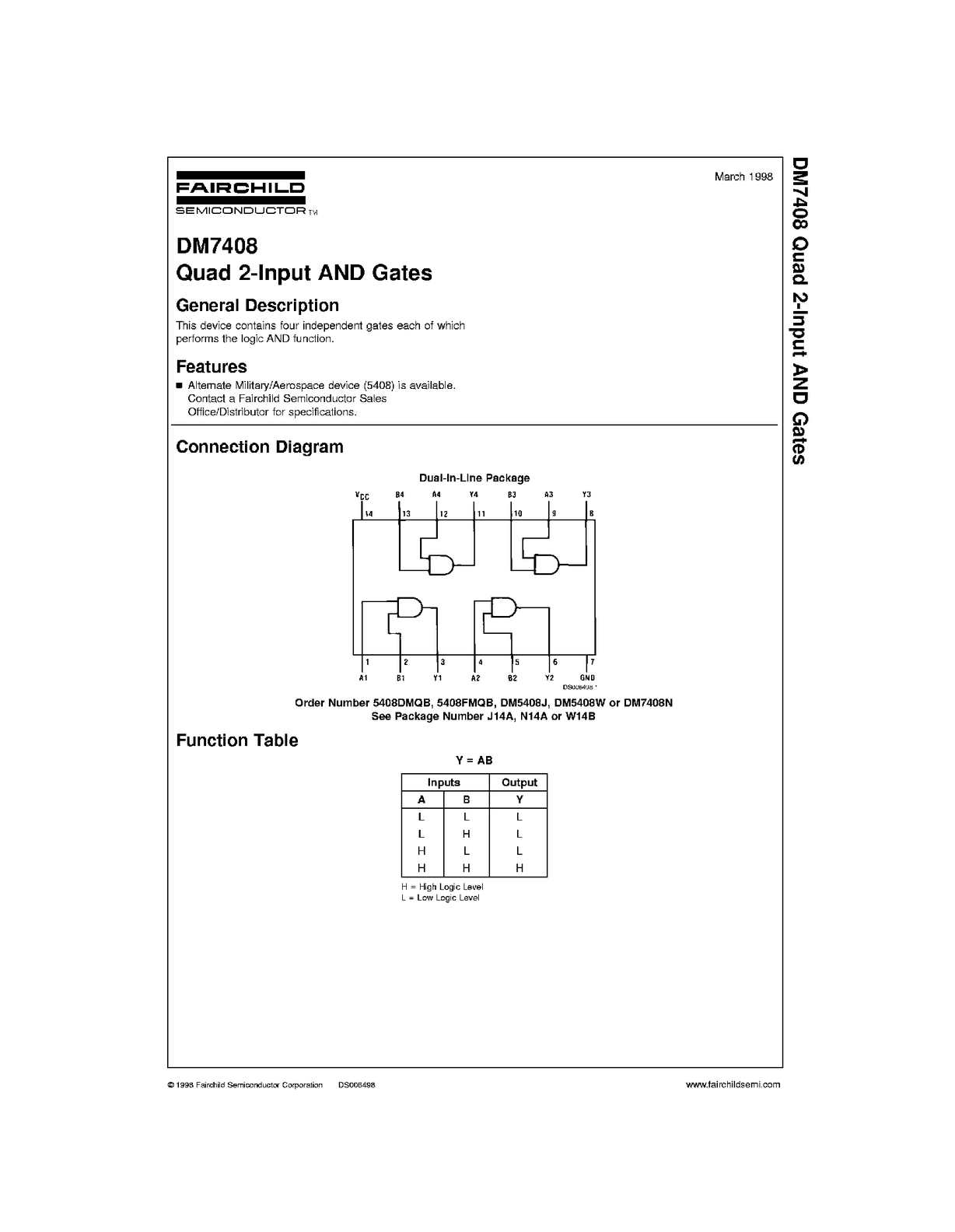 On semiconductor 74ls08 series datasheets. Sn74ls08, 74ls08 datasheet.