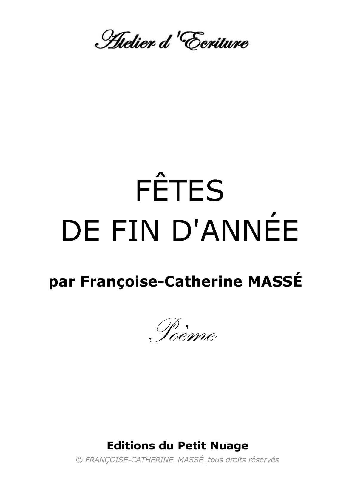 Calaméo Fêtes De Fin Dannée Par Françoise Catherine Massé