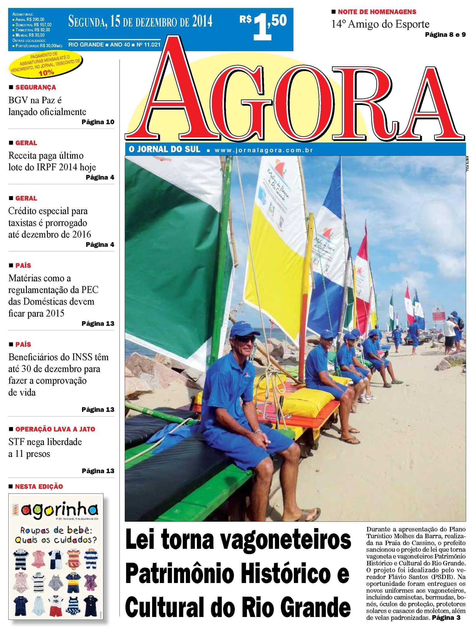 Calaméo - Jornal Agora - Edição 11021 - 15 de dezembro de 2014 e7b334ef71192