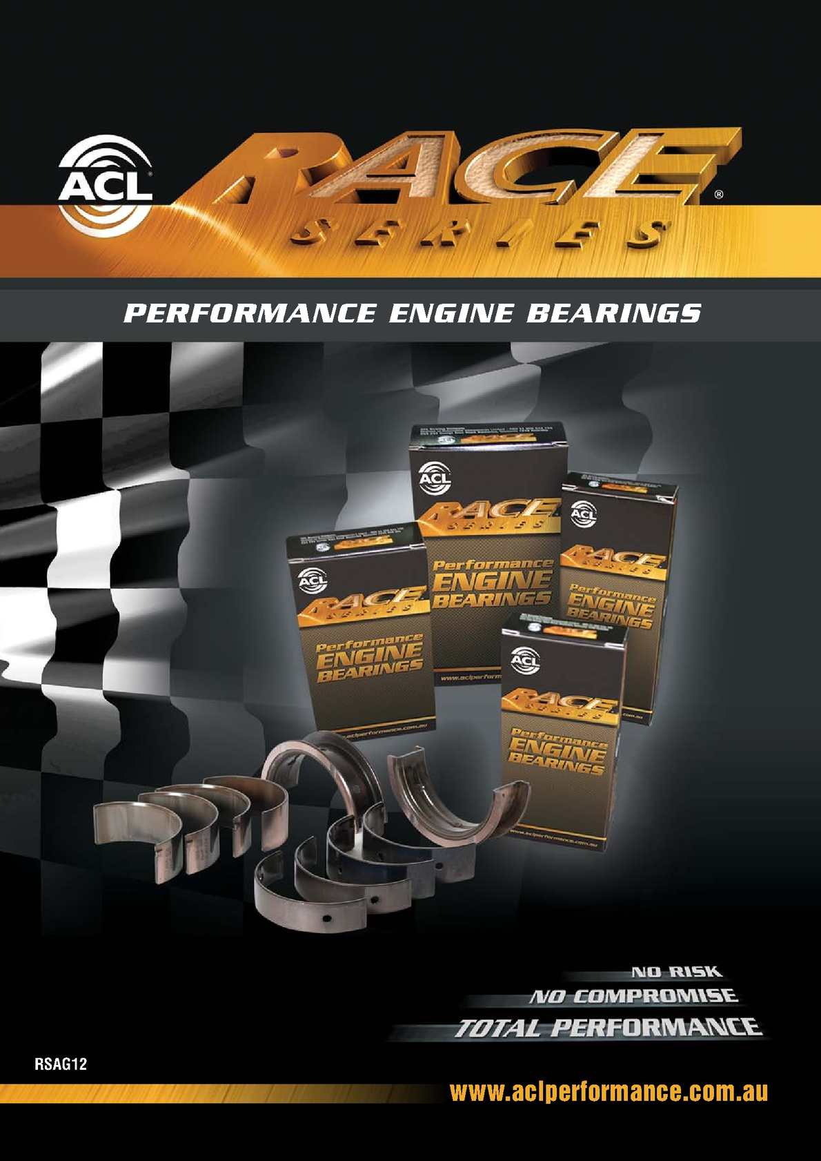 8B8091H-STD ACL Standard Size High Performance Rod Bearing Set for Lexus