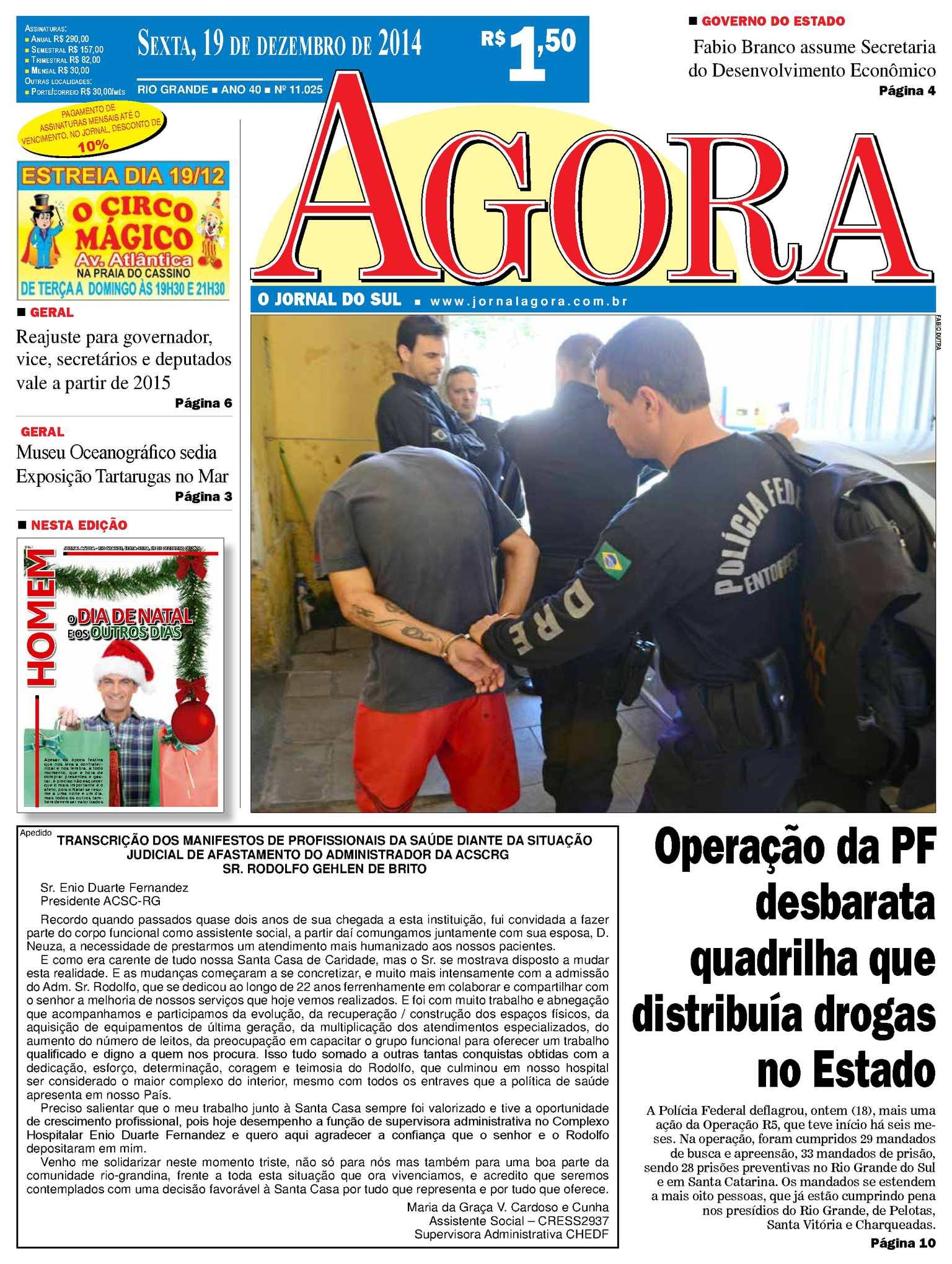 a034344958 Calaméo - Jornal Agora - Edição 11025 - 19 de dezembro de 2014